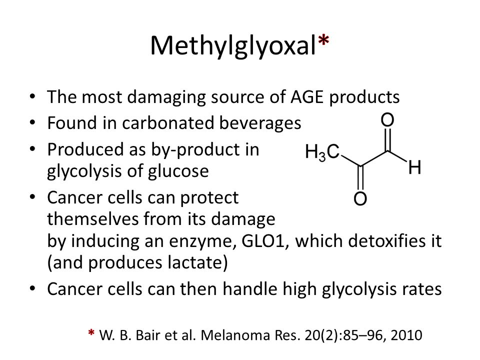 Methylglyoxal* The most damaging source of AGE products