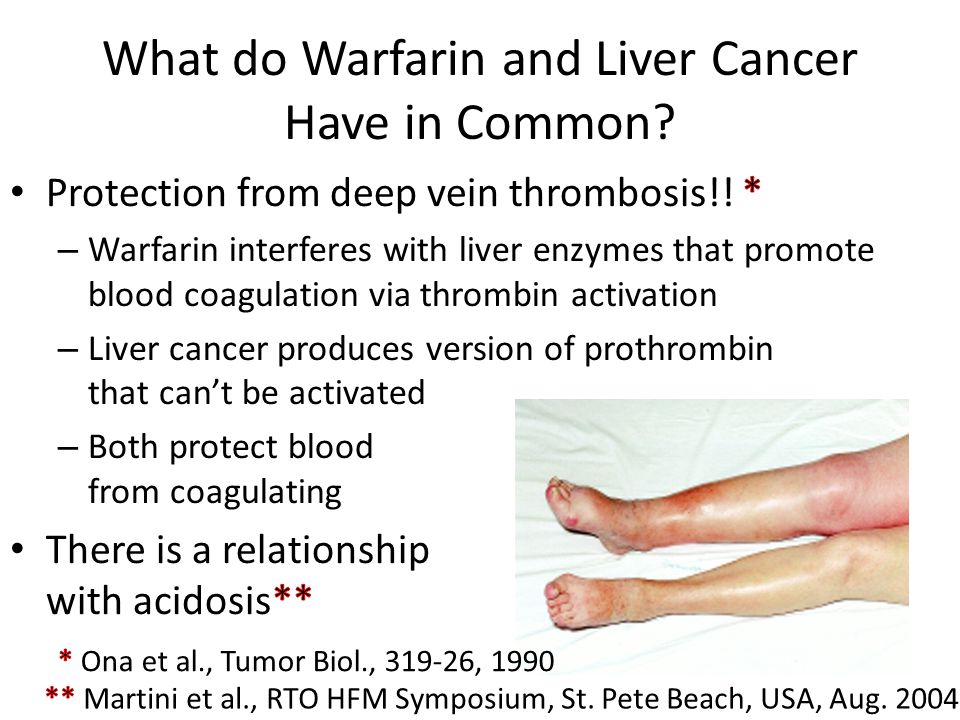 What do Warfarin and Liver Cancer Have in Common