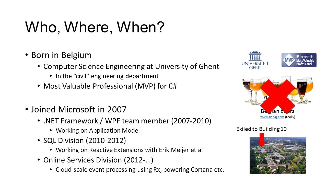 Who, Where, When Born in Belgium Joined Microsoft in 2007
