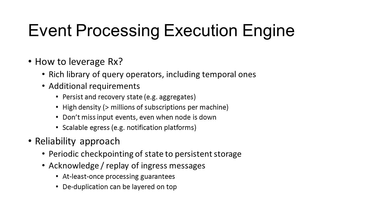 Event Processing Execution Engine