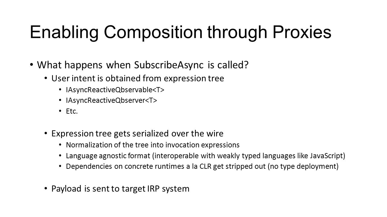 Enabling Composition through Proxies