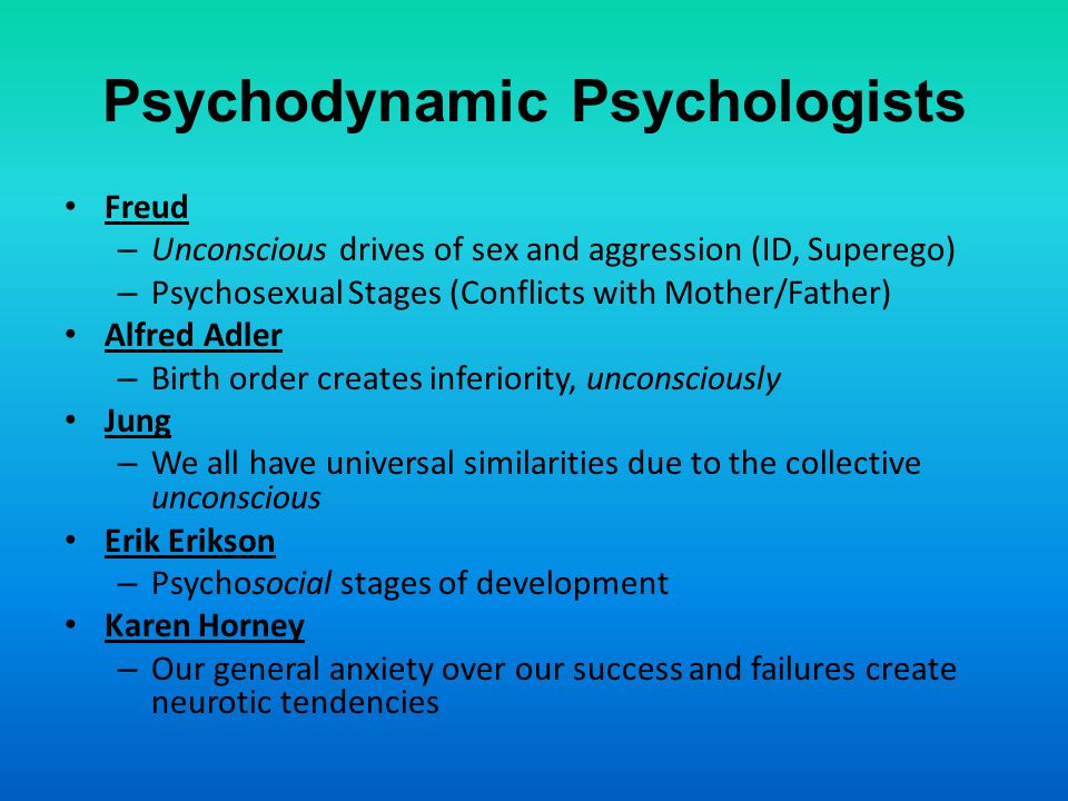 Psychodynamic Psychologists