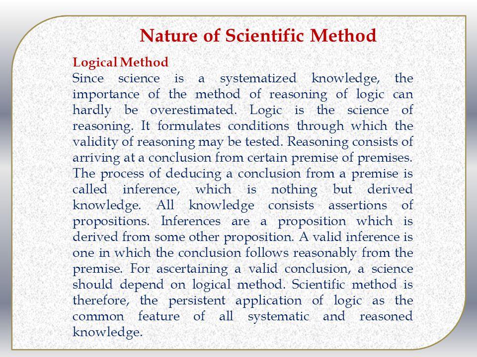 Nature of Scientific Method