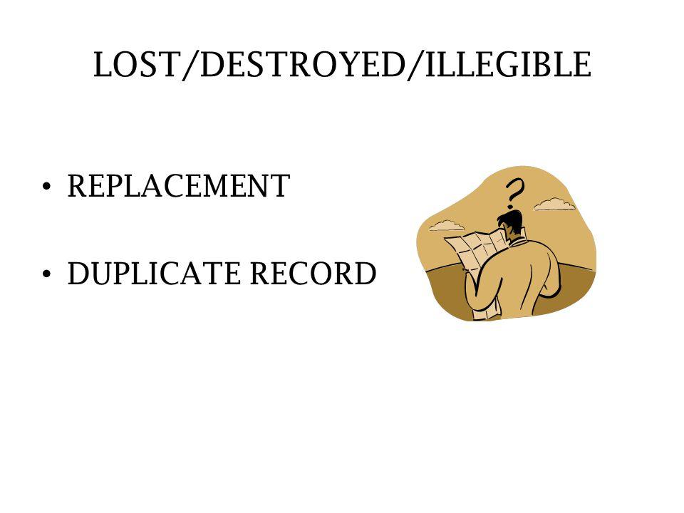 LOST/DESTROYED/ILLEGIBLE