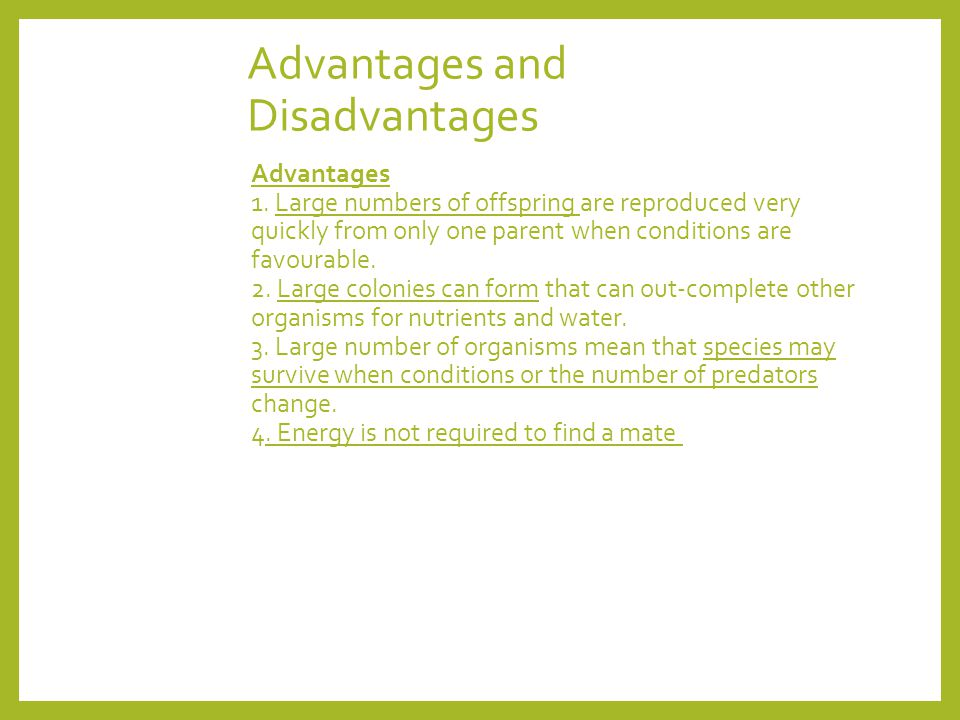advantages and disadvantages of large populations Benefits and advantages of an increasing population of a country the consequences of a growth in a country's population depend on its cause, size of population relative to optimum population and the rate of population growth.