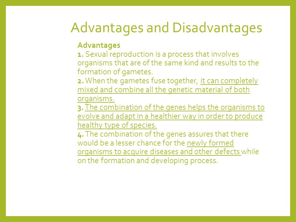 Advantages and disadvantages of sexual reproduction photos 13