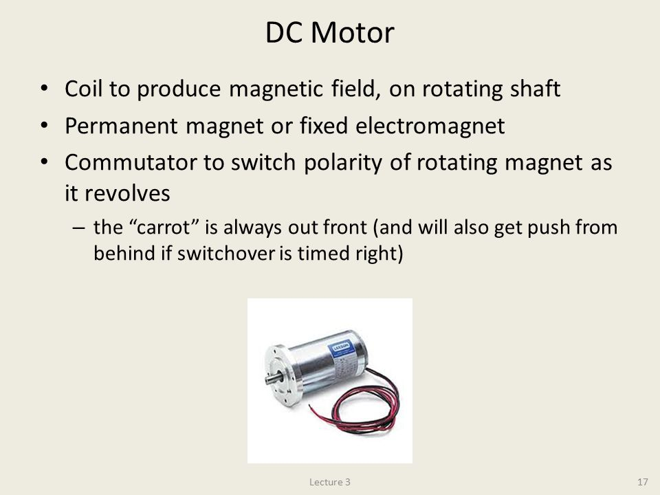 DC Motor Coil to produce magnetic field, on rotating shaft