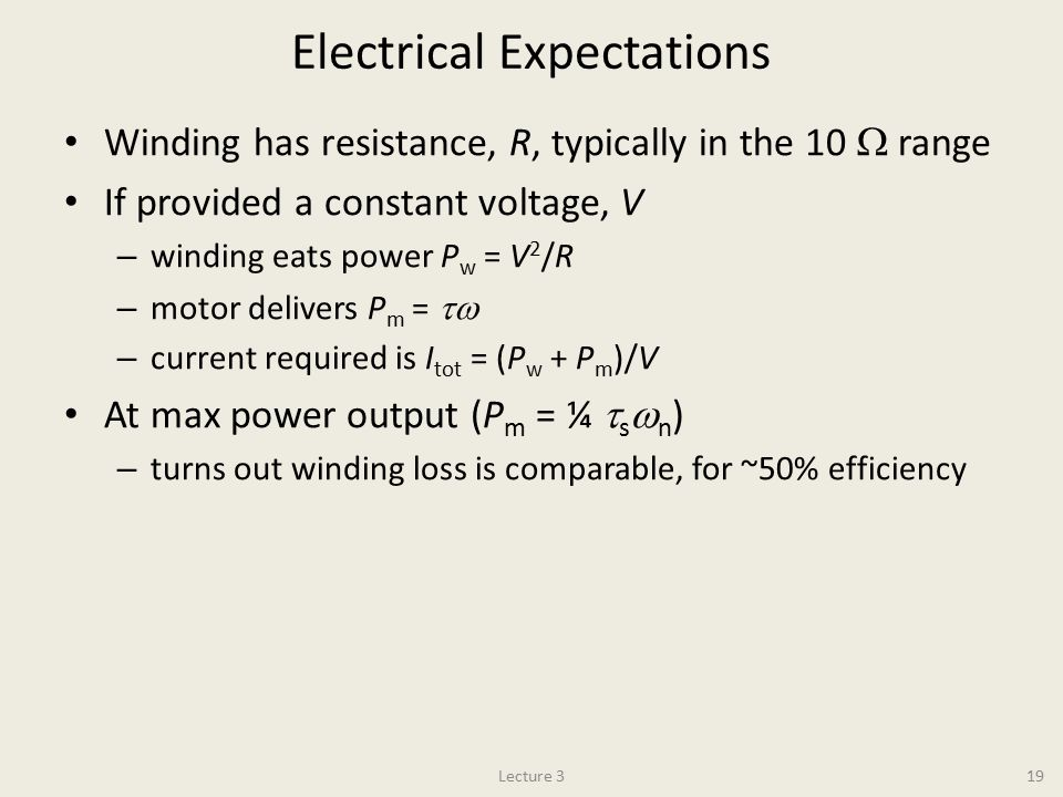 Electrical Expectations