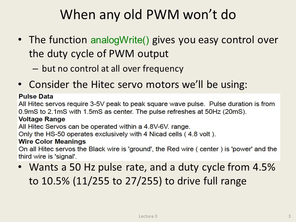 When any old PWM won't do