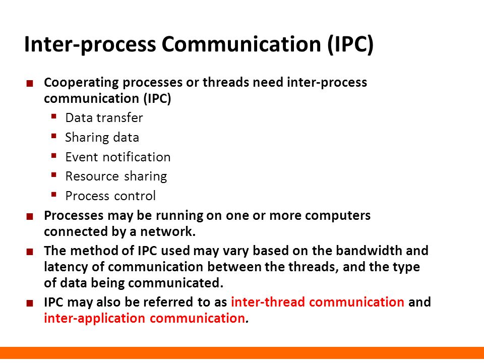 Inter-process Communication (IPC)