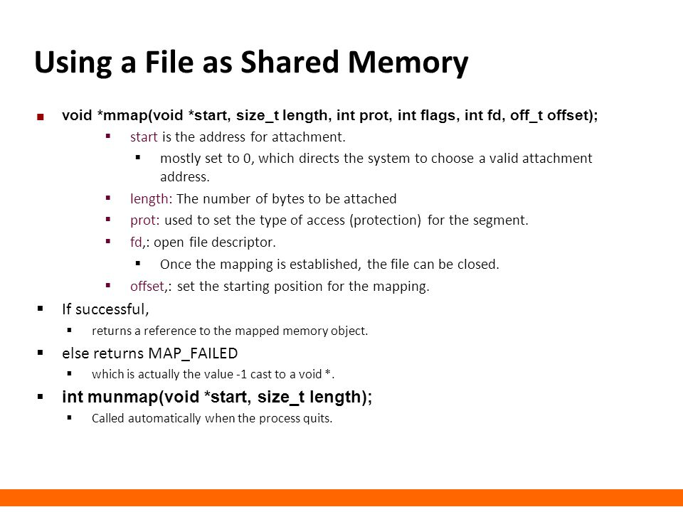 Using a File as Shared Memory