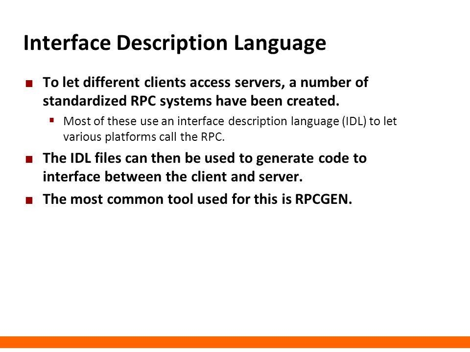 Interface Description Language
