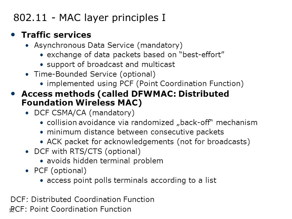 802.11 - MAC layer principles I