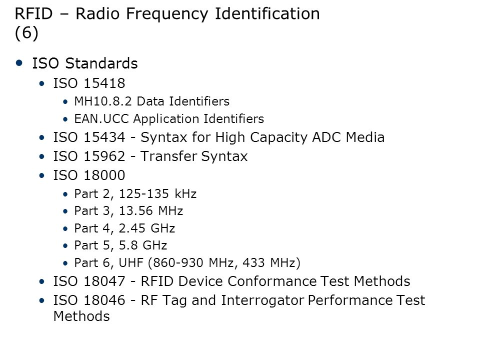 RFID – Radio Frequency Identification (6)