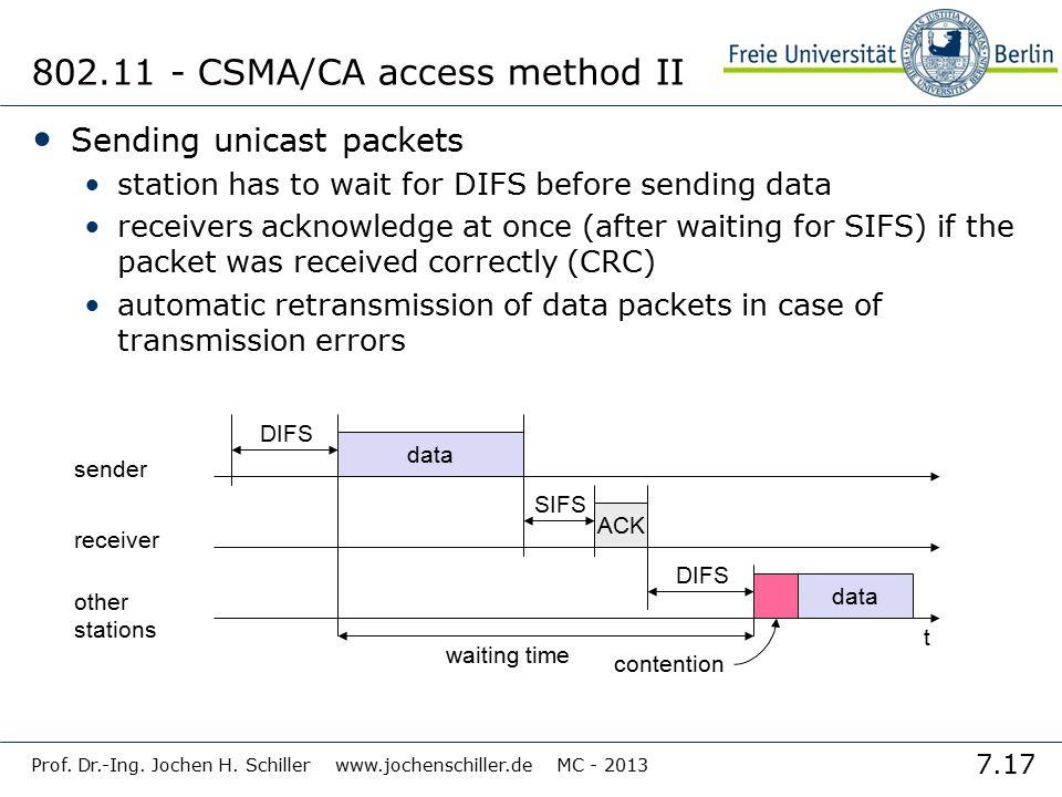 802.11 - CSMA/CA access method II