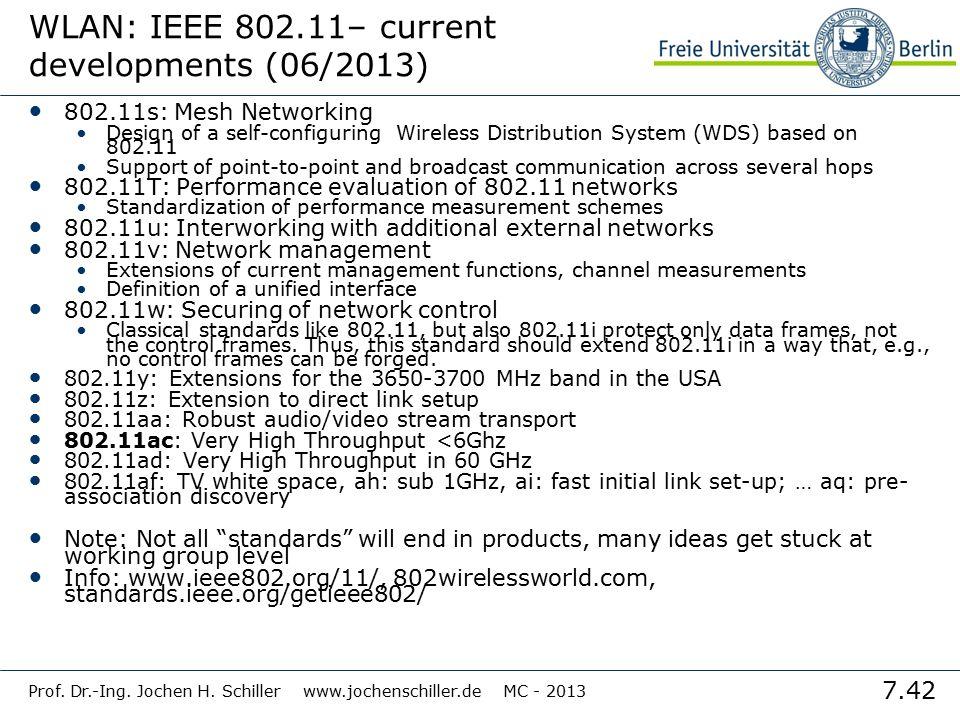 WLAN: IEEE 802.11– current developments (06/2013)