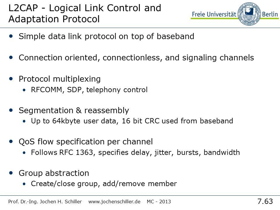 L2CAP - Logical Link Control and Adaptation Protocol