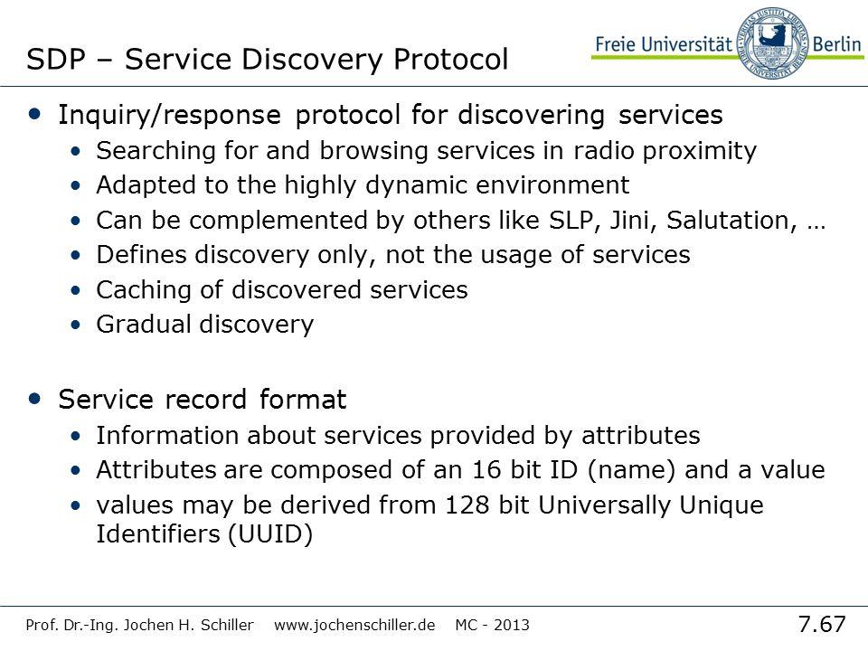 SDP – Service Discovery Protocol