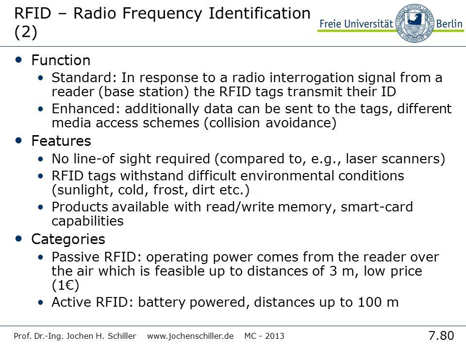 RFID – Radio Frequency Identification (2)