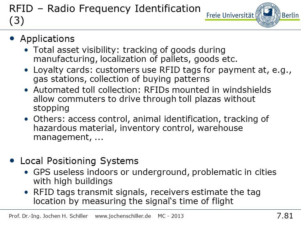 RFID – Radio Frequency Identification (3)