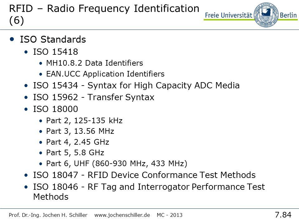 RFID – Radio Frequency Identification (6)