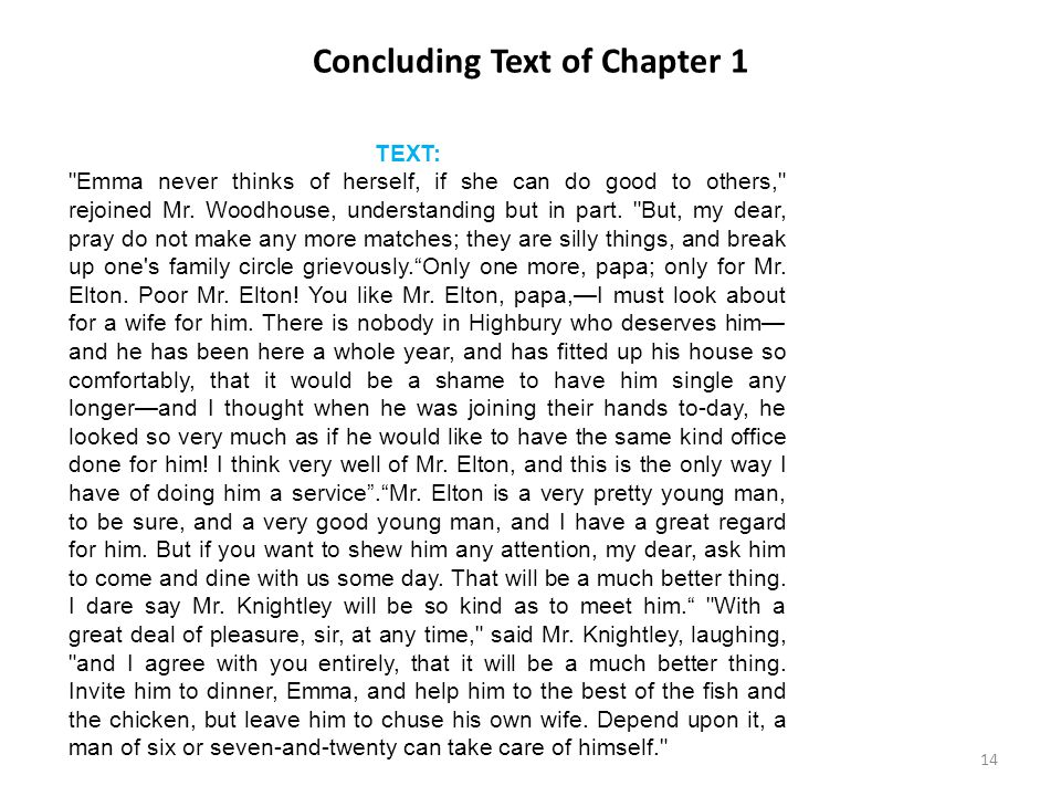 Concluding Text of Chapter 1