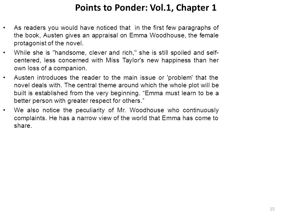 Points to Ponder: Vol.1, Chapter 1