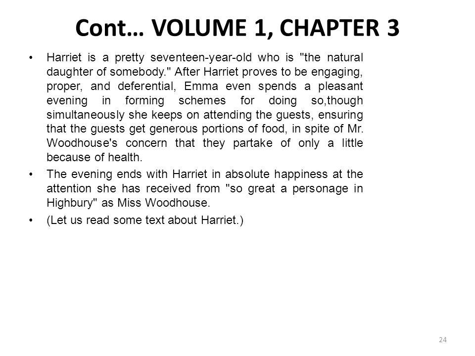 Cont… VOLUME 1, CHAPTER 3