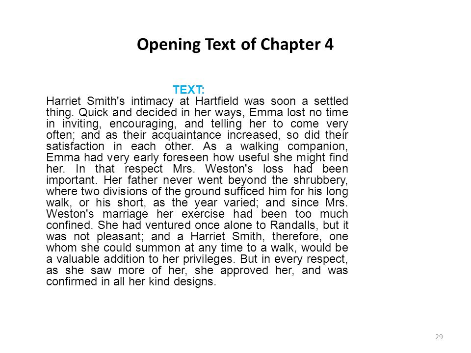 Opening Text of Chapter 4