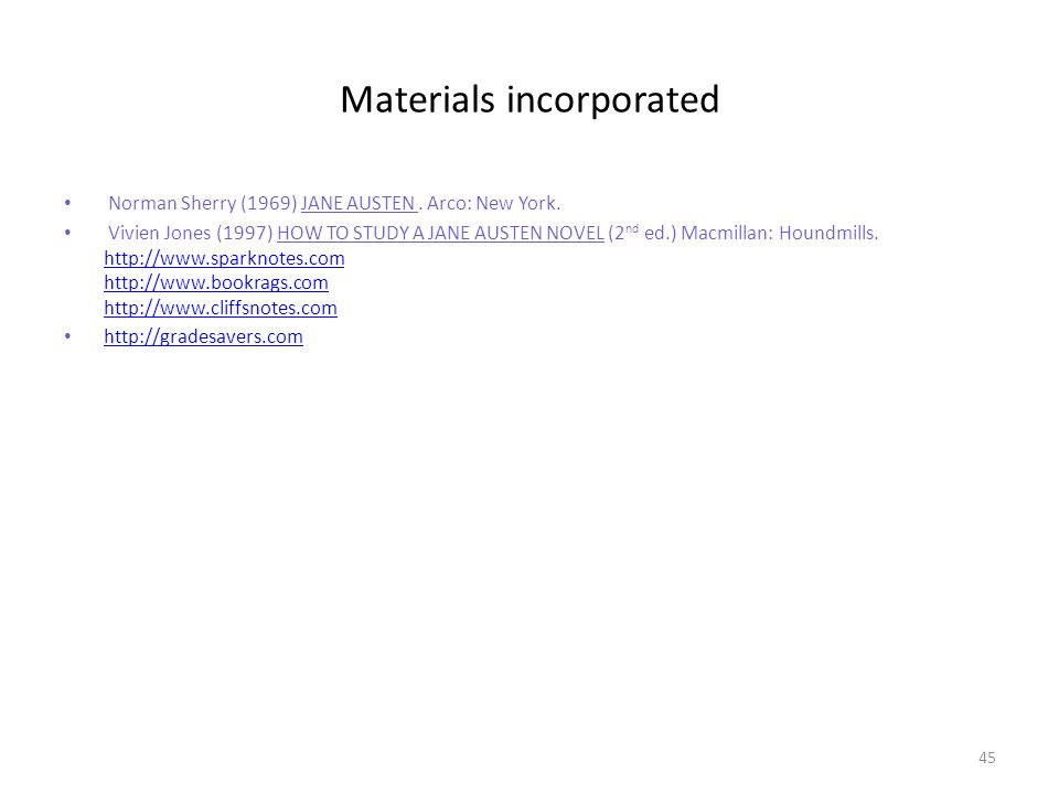 Materials incorporated