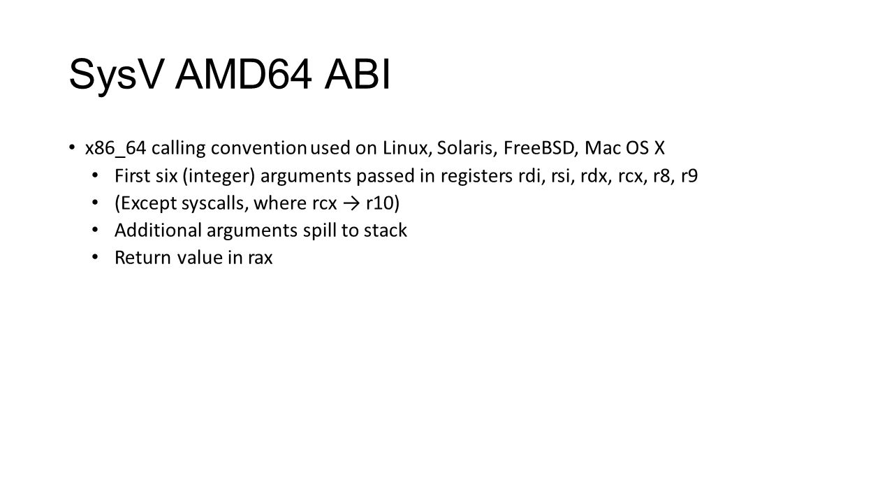 SysV AMD64 ABI Why are register arguments good/bad