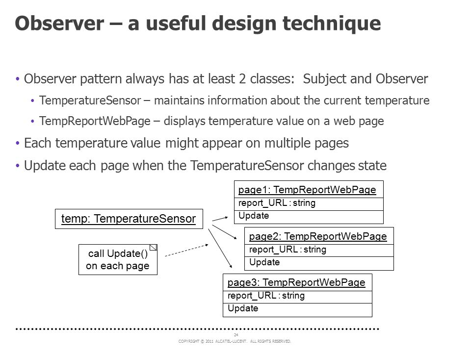 Observer – a useful design technique