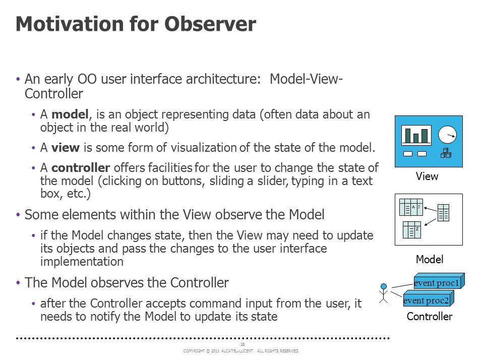 Motivation for Observer