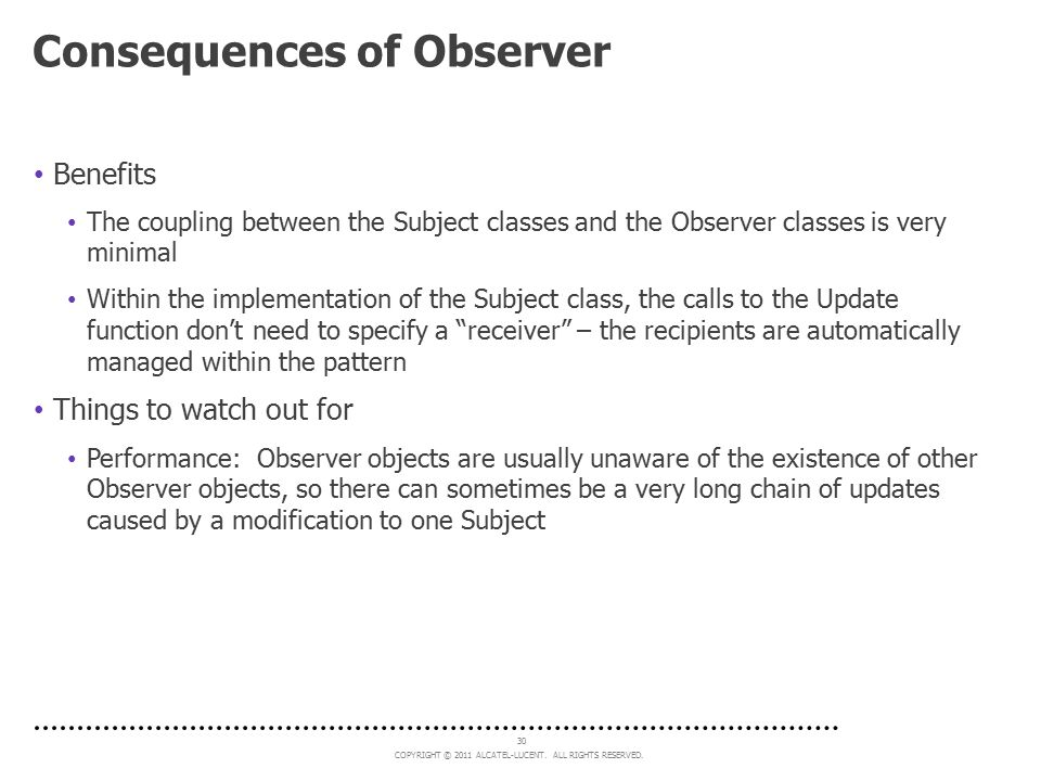 Consequences of Observer