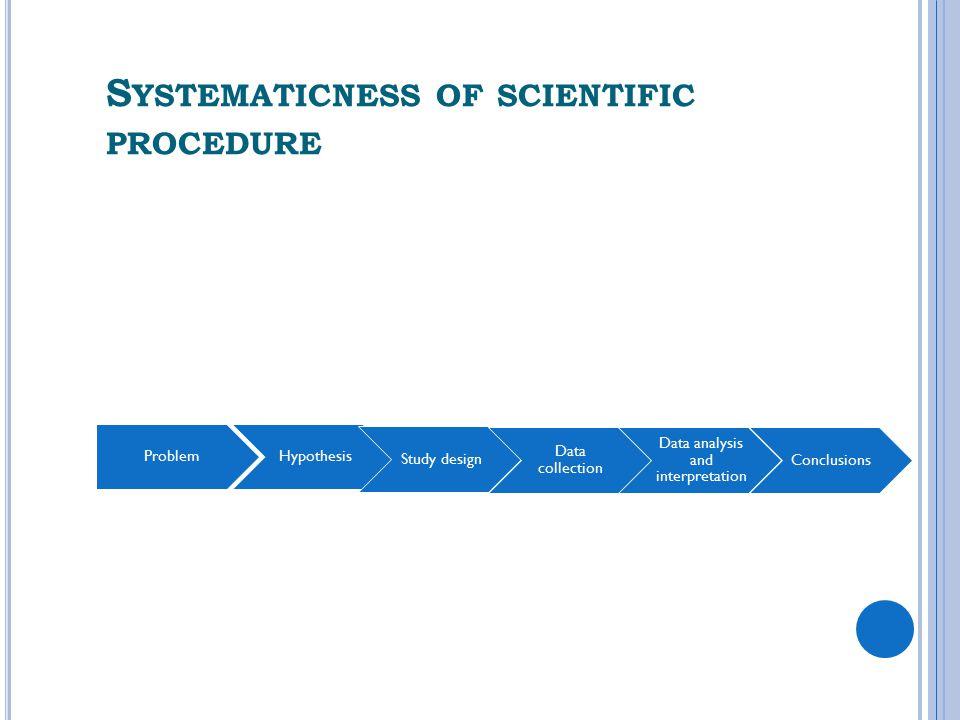 Systematicness of scientific procedure