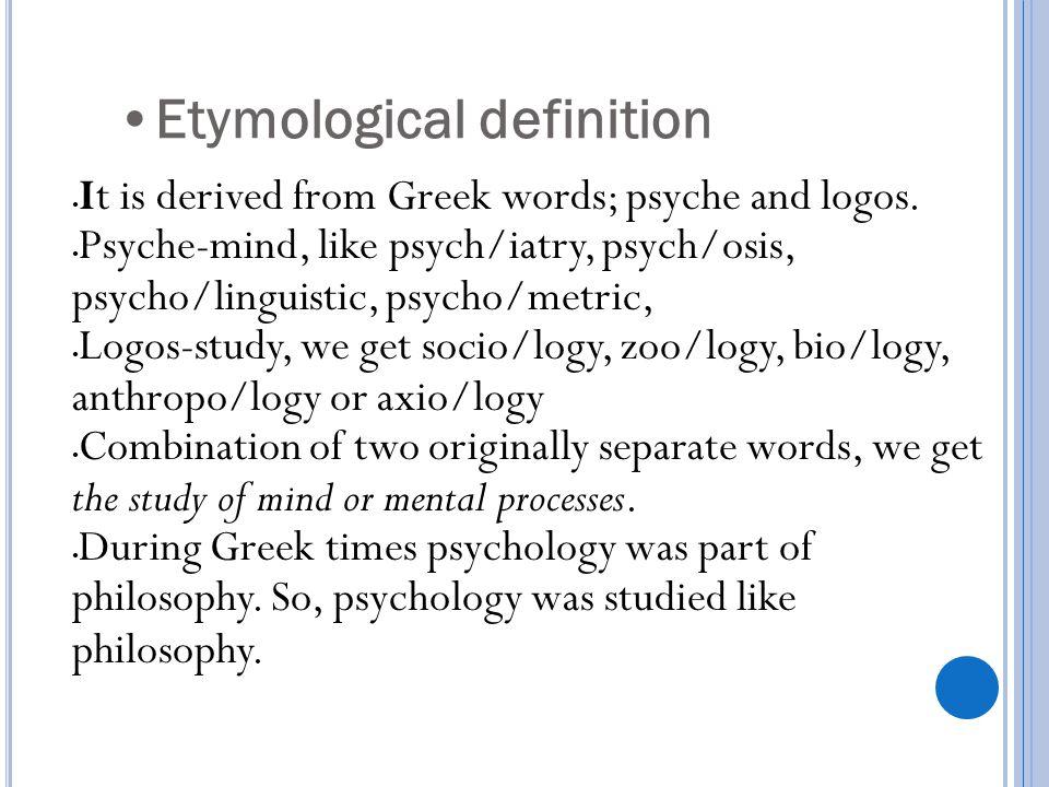 Etymological definition