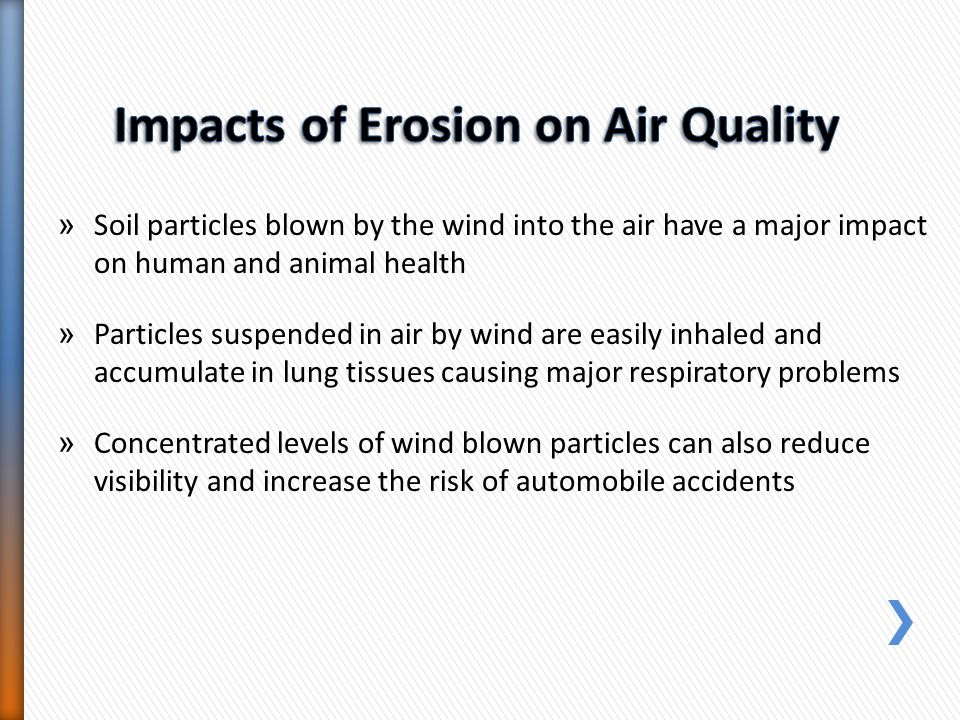Impacts of Erosion on Air Quality