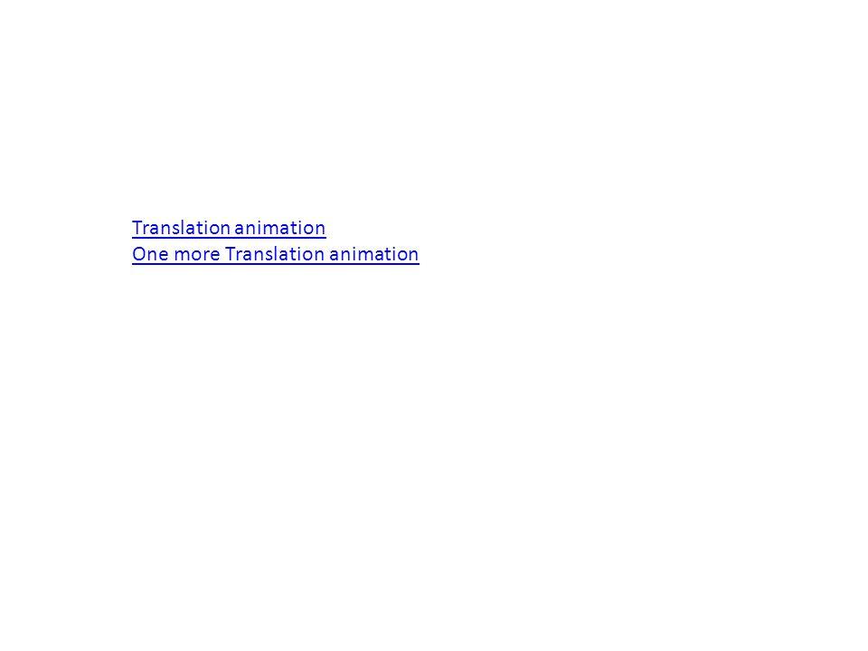 Translation animation