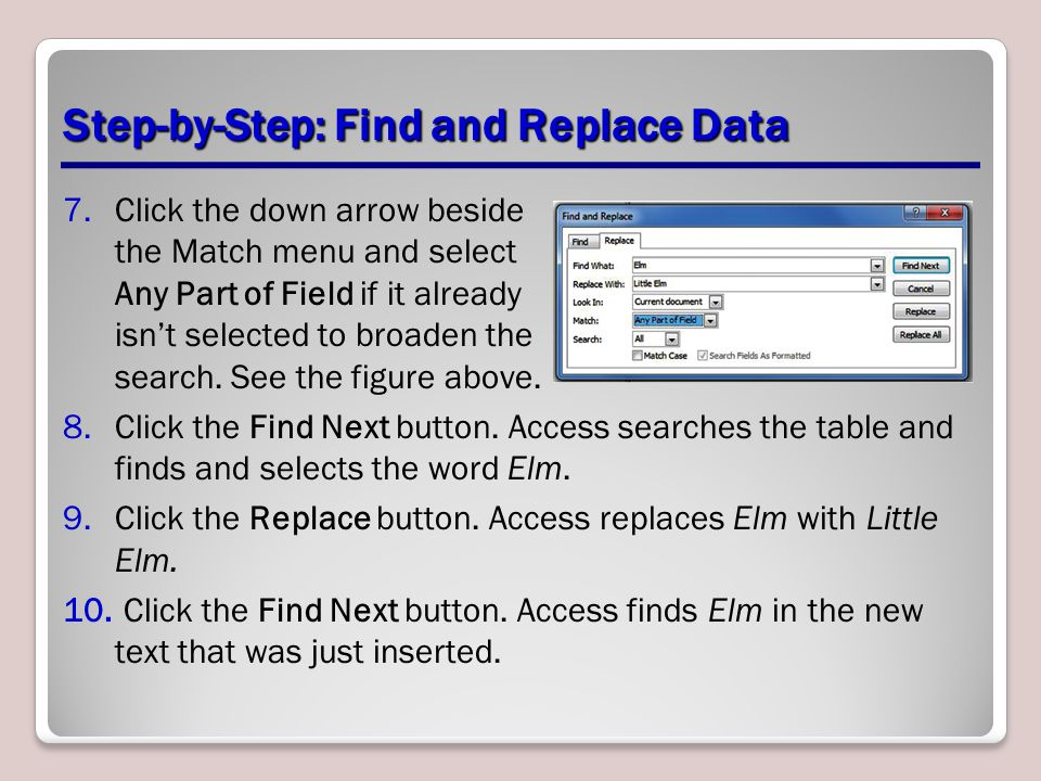 Step-by-Step: Find and Replace Data