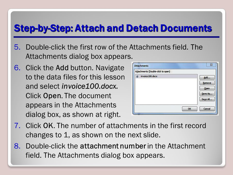 Step-by-Step: Attach and Detach Documents