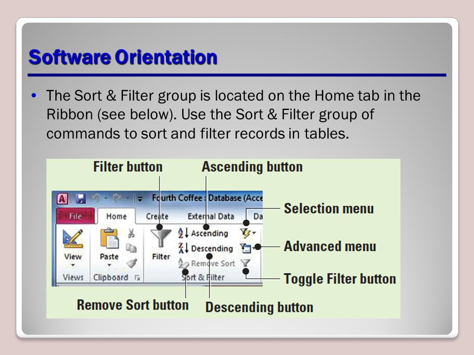 Software Orientation