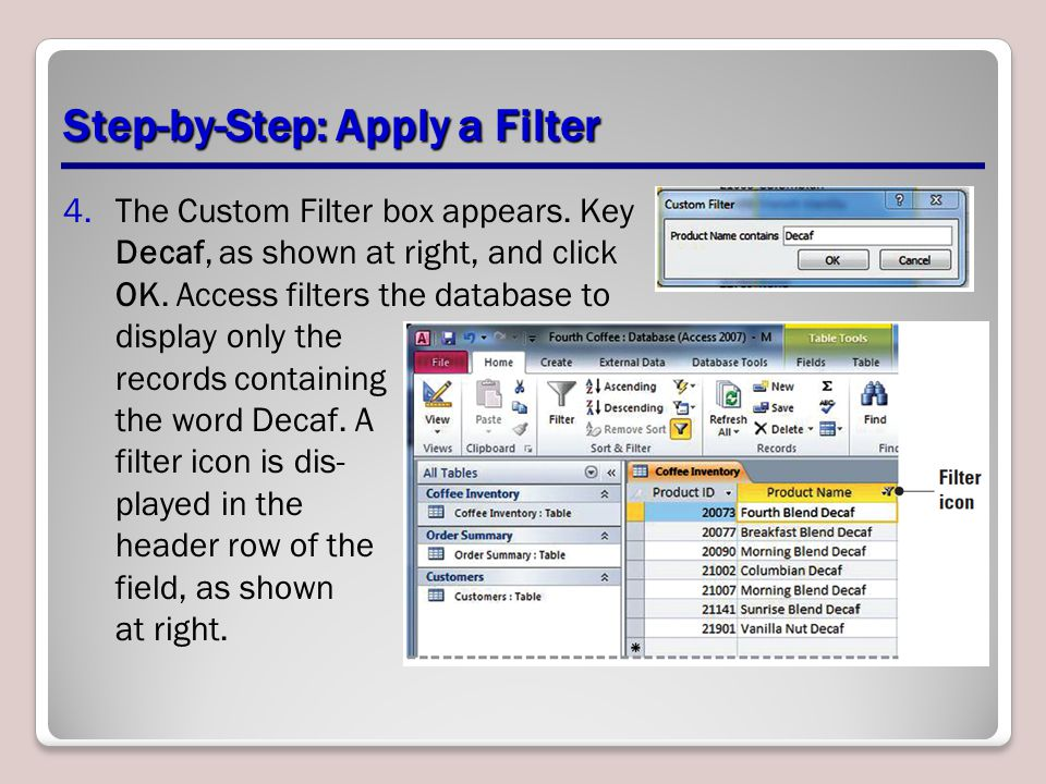 Step-by-Step: Apply a Filter