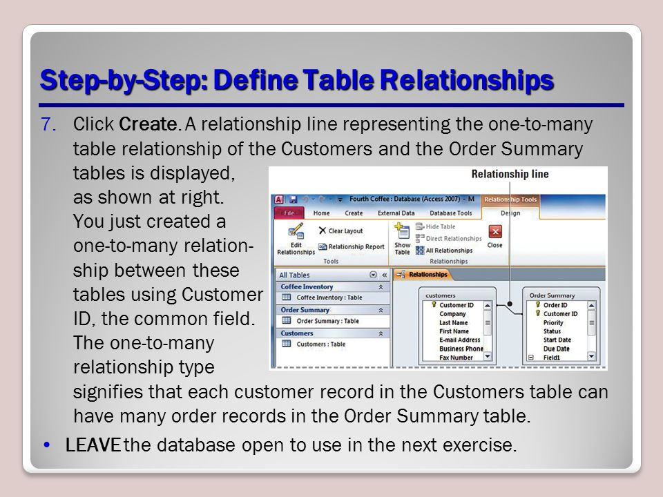 Step-by-Step: Define Table Relationships