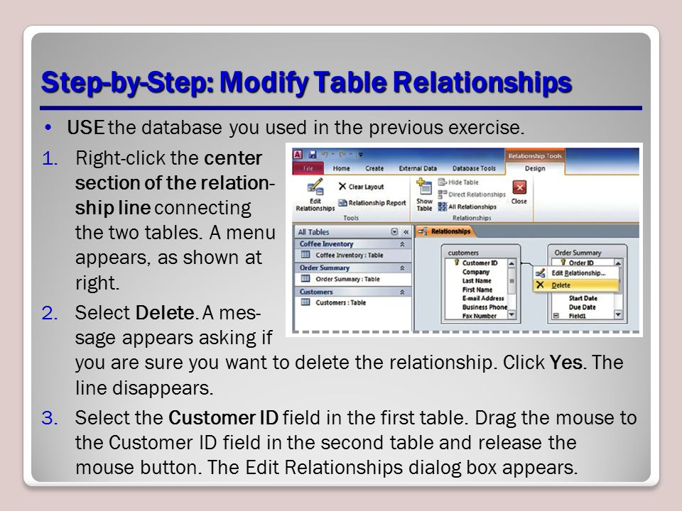 Step-by-Step: Modify Table Relationships