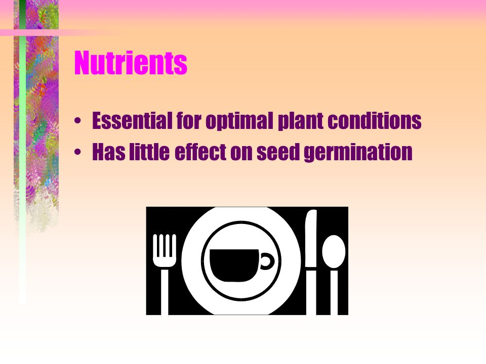 Nutrients Essential for optimal plant conditions