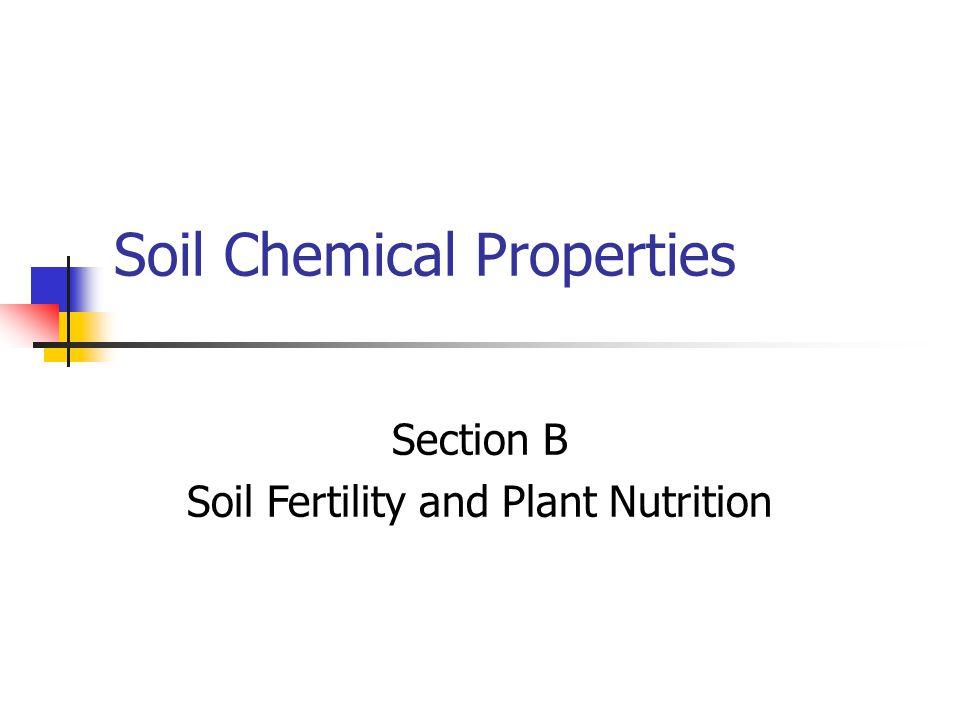 Soil Chemical Properties