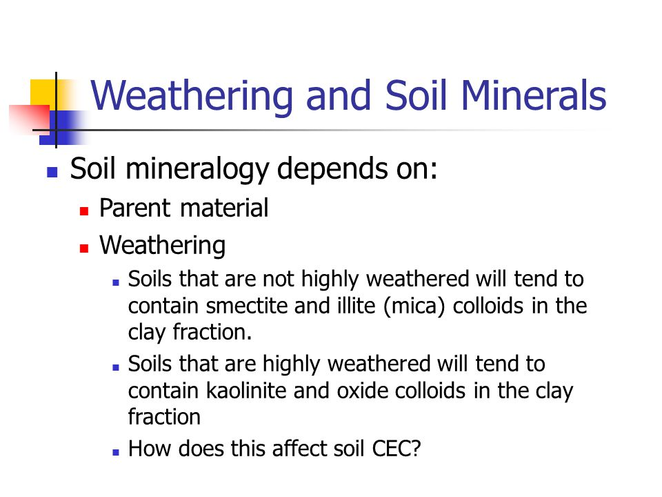 Weathering and Soil Minerals