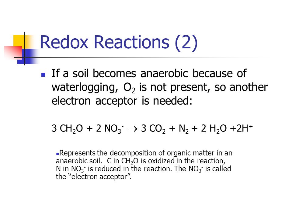 Redox Reactions (2)