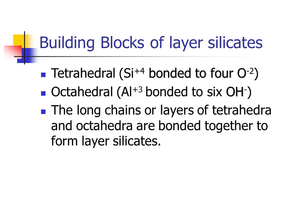 Building Blocks of layer silicates