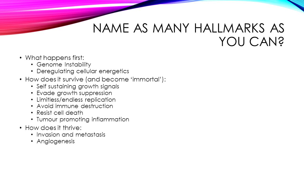 Name as many hallmarks as you can
